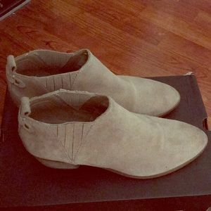 Marc Fisher camel Swede Western Style Booties